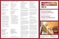 International Organ Competition - Historische Stadthalle Wuppertal