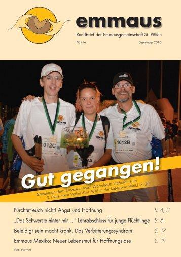 Rundbrief der Emmausgemeinschaft - Ausgabe 03|16