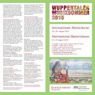 International Masterclasses - Historische Stadthalle Wuppertal