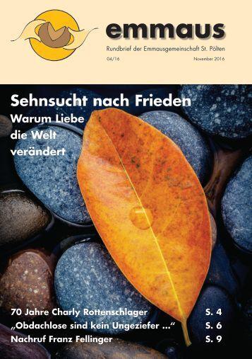 Rundbrief der Emmausgemeinschaft - Ausgabe 04|16