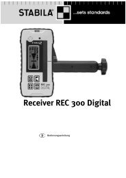 Receiver REC 300 Digital - Stabila