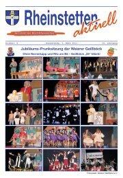 Jubiläums-Prunksitzung der Weierer Geißböck - Stadt Rheinstetten