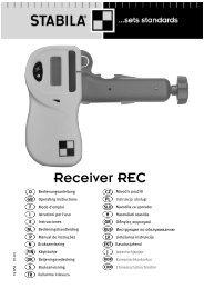Ochrana přístroje - Stabila