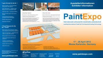 17 – 20 April 2012 Messe Karlsruhe, Germany www.paintexpo.com ...