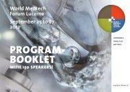 PROGRAM- BOOKLET - World Medtech Forum Lucerne