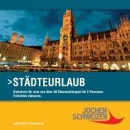 STÄDTEURLAUB - Jochen Schweizer