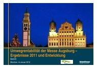 Umwegrentabilität der Messe Augsburg ... - Stadt Augsburg