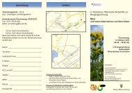 Anmeldung Anfahrt 5. Workshop: Pflanzliche Rohstoffe zur ...