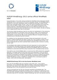 HUSUM WindEnergy 2012 carries official WindMade label