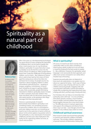 Spirituality as a natural part of childhood