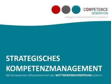 CompetenceGeneration. Strategisches Kompetenzmanagement. Christiana Scholz.