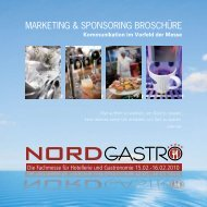 marketing & sponsoring broschüre - NORD GASTRO & Hotel 2012 ...