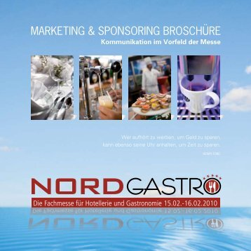 marketing & sponsoring broschüre - NORD GASTRO & Hotel 2012 ...