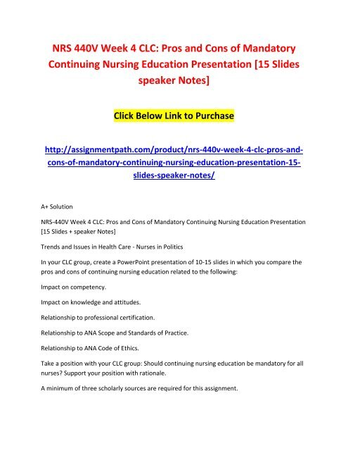 impact on knowledge and attitudes continuing nursing education