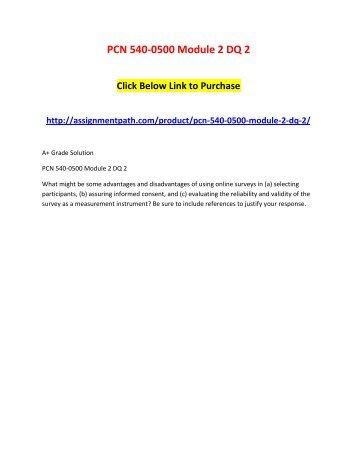 PCN 540-0500 Module 2 DQ 2