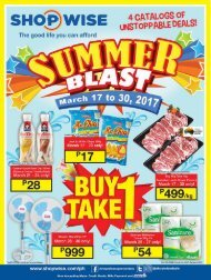 SHOPWISE CATALOG ends March 30, 2017