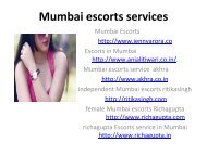 Mumbai escorts services