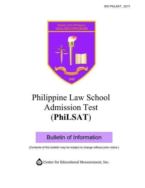 Philippine Law School Admission Test PhiLSAT