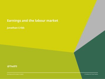 Earnings and the labour market