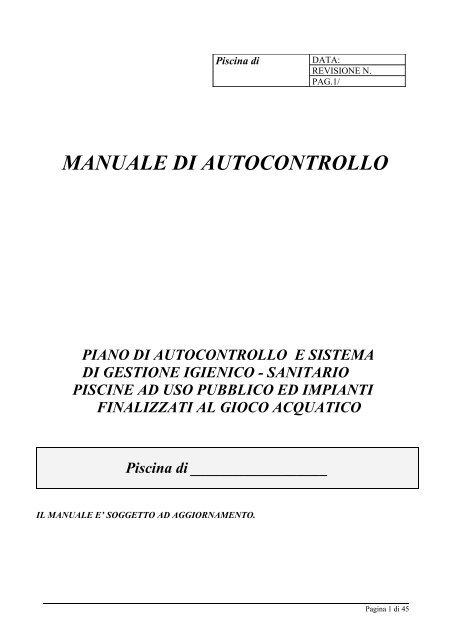 Manuale Haccp Pdf