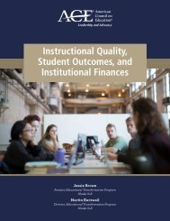 Instructional Quality Student Outcomes and Institutional Finances