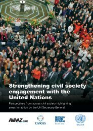 Strengthening civil society engagement with the United Nations
