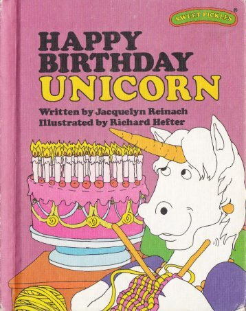 U - Happy Birthday Unicorn