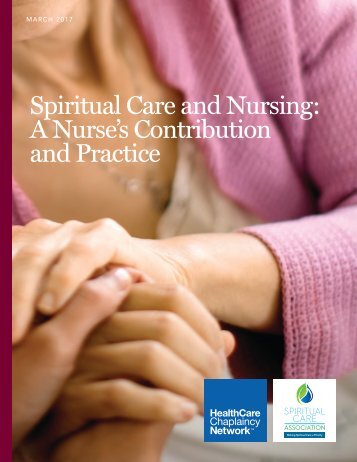 S piritual Care and Nursing A Nurse's Contribution and Practice