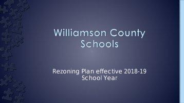 Rezoning Plan effective 2018-19 School Year