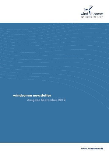 windcomm Newsletter September 2012 - windcomm schleswig ...