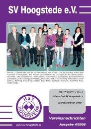 Vereinsnachrichten - SV Hoogstede eV