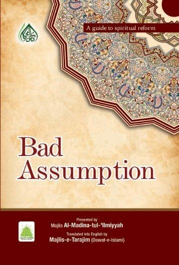 BAD ASSUMPTION