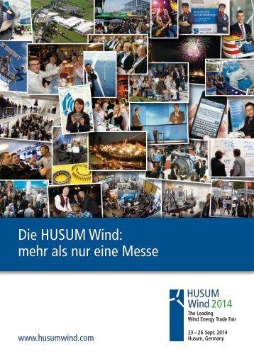 Die HUSUM Wind: mehr als nur eine Messe - Husum WindEnergy