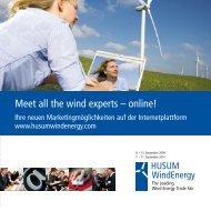 Meet all the wind experts – online! - Kromrey Kommunikation