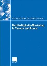 Nachhaltigkeits-Marketing in Theorie und Praxis - TUM
