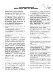 Allgemeine Einkaufsbedingungen Metallbau Schubert GmbH / Stand