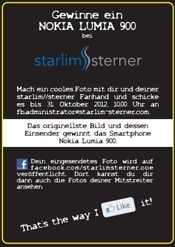 Gewinne ein NOKIA LUMIA 900 - STARLIM Spritzguss GmbH