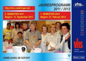 JAHRESPROGRAMM 2011 / 2012 - Stadt Völklingen