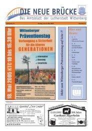 """Information zu """"Luthers Hochzeit"""" 10. - Lutherstadt Wittenberg"""