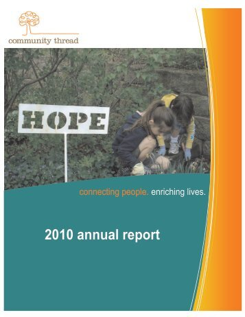 2010 Annual Report (PDF) - Community Thread