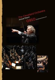 2009-10 Annual Report - Cleveland Orchestra