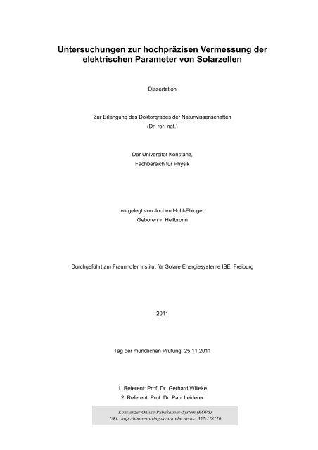 Dissertation zur erlangung des doktorgrades der medizin