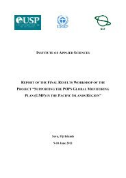 institute of applied sciences report of the final ... - UNEP Chemicals