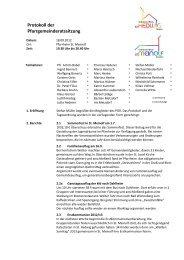 Protokoll der Pfarrgemeinderatssitzung