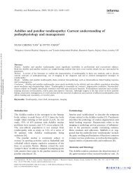 Achilles and patellar tendinopathy: Current understanding of ...