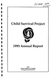 Child Survival Project 1993 Annual Report - part - USAid
