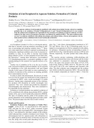 Oxidation of d-a-Tocopherol in Aqueous Solution. Formation of ...