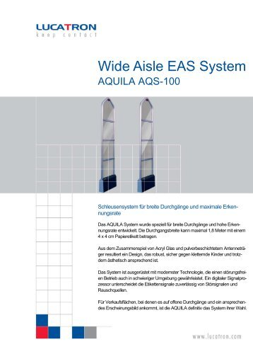Wide Aisle EAS System - bei IQ Technologies