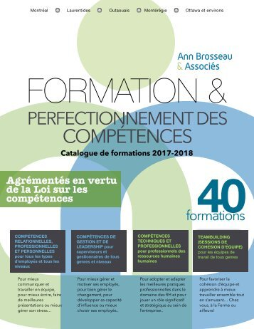 Catalogue des formations 2017-2018