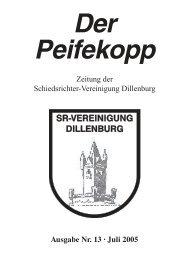 Der Peifekopp - Schiedsrichter Vereinigung Dillenburg